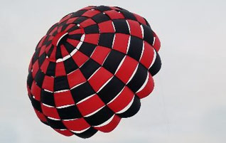 Rocketman Checkered Ringsail Parachutes