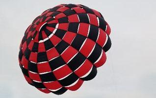 Rocketman Checkered Ringsail Parachutes